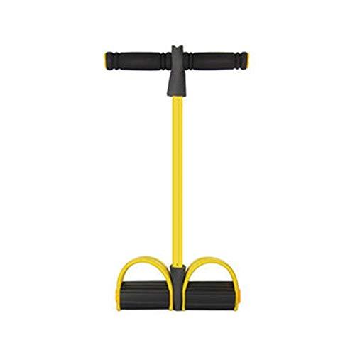 Outdoor-Spielzeug, das Kindern gefällt Zitrone Unisex Fitness Leg Step Spring Exerciser Hochziehen des Rudergerätes mit Griff Widerstand Band Fitnessgerät - Gelb