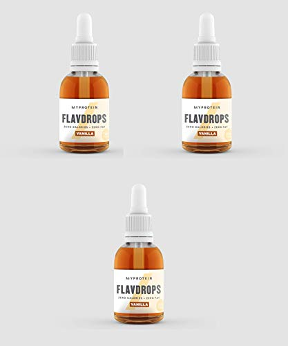 Myprotein Flavdrops, Vanilla, 3er Pack, 3x50ml