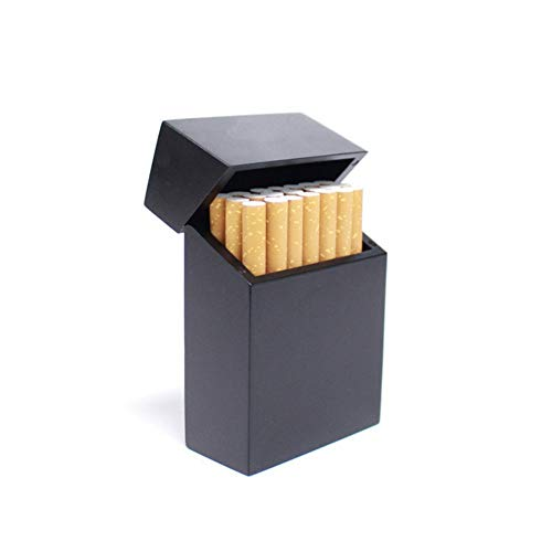 Wooden Cigarette Box_Redwood und Cherry Wood & Bambook Zigarettenschachtel, Charcoal Black -
