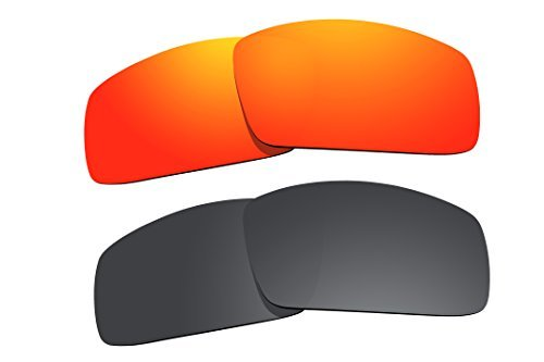 2 Pairs Polarized Lenses Replacement for Oakley Canteen (2006) Sunglasses Fire Red & Black by BVANQ