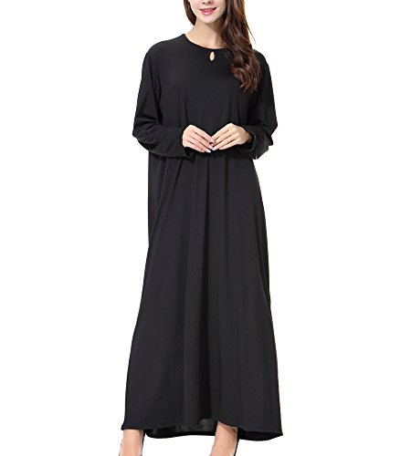 Bmeigo Damen Kaftan Muslim Abra Robes Islamic Abaya Maxi Kleider -N05