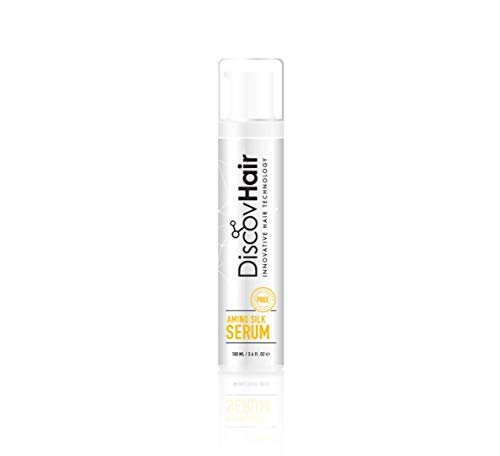 Blow Dry Serum (DiscovHair AMINO SILK SERUM 100ml 3.4oz WITH COCO CHANEL MADEMOISELLE PERFUME, NATURAL, SALT & PARABEN FREE HIGHLY RECOMMENDED & SAFE FOR ALL HAIR TYPES AND AFTER A BRAZILIAN OR OTHER KERATIN BLOW-DRY)