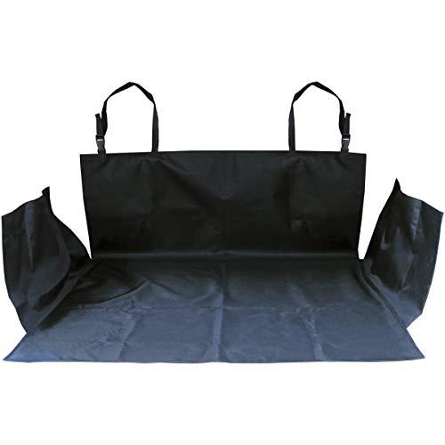 igadgitz Xtra U6875 Universeller Wasserfester Kofferraumschutz Strapazierfähige Kofferraumdecke Haustier Sitz Matte für Autos, SUVs, MPVs, Vans, LKWs - Schwarz (155 x 104cm)