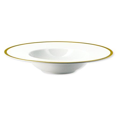 Bruno Evrard Assiette Creuse en Porcelaine Filet Or 23cm - Lot de 6 - Ritz