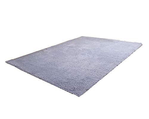 ATTAOL Shaggy Teppich Hochflor Langflor Teppiche Modern für Wohnzimmer Schlafzimmer Splittergrau 120 * 200CM -