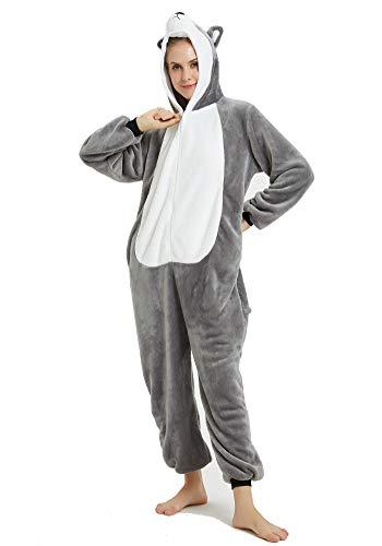 FZChenrry Jumpsuit Tier Pyjama Fasching Halloween Kostüm Schlafanzug Onesie Cosplay Pyjama Erwachsene Damen Karneval (Übergröße Kaninchen Kostüm)