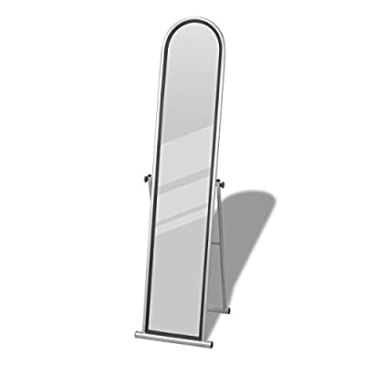Free Standing Floor Mirror Full Length Rectangular Grey - inexpensive UK light store.