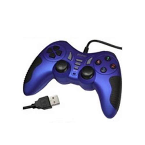 Price comparison product image Manette jeux Dual-Choc,  12 boutons,  pour PC,  Bleu