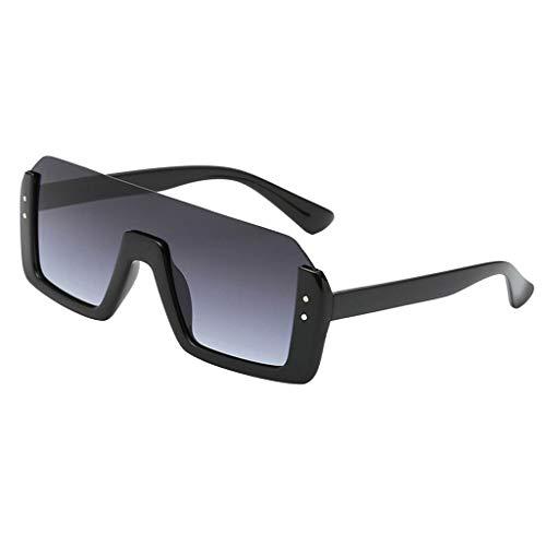 Baoblaze Vintage Square Sonnenbrillen Rechteck Outdoor Shades UV Schutz Frauen Männer - Grau