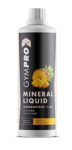GymPro Mineraldrink Mineralgetränk Low Carb Vital Drink 1:80, 1000ml Sirup Konzentrat in Flasche mit L-Carnitin, Magnesium und Vitamin für Fitness