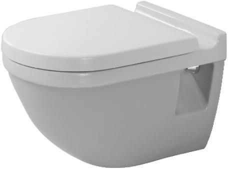 Duravit Wand-WC Starck 3 540 mm Tiefspüler mit WonderGliss Beschichtung