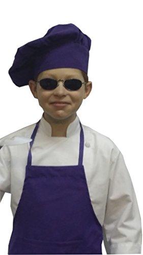 Chefskin delantal y gorro chef de alta calidad, luz, COOL, suave, bonito color morado, poliéster, Morado, Toddler (12-36 months)