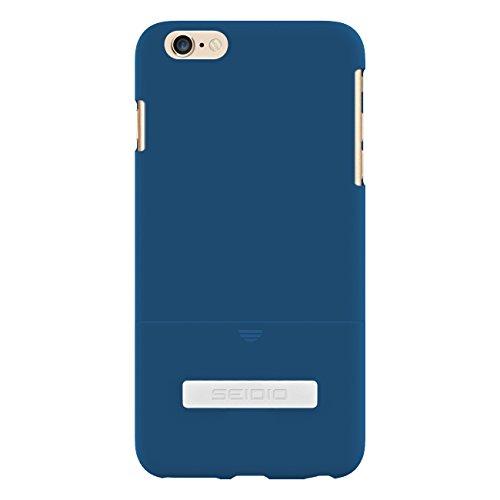 Seidio Surface - Cover con Supporto in Metallo, per Apple iPhone 6 Plus, Blu