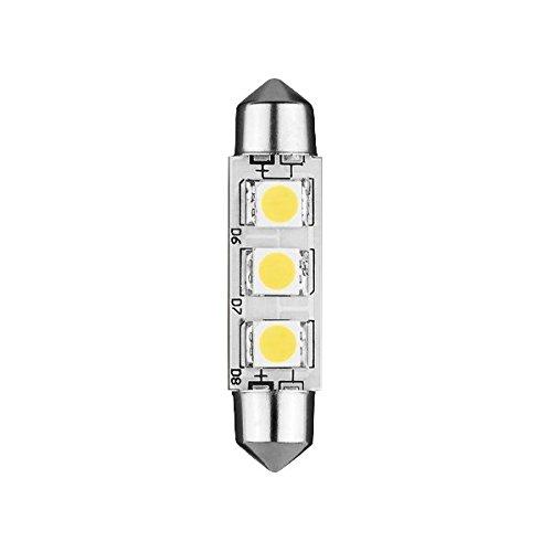 Lampada LED navetta 37mm 12VDC 0W7Bianco freddo
