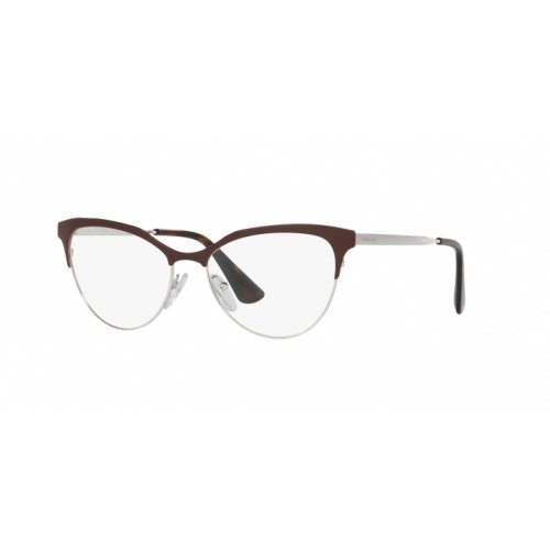 Prada - PRADA PR 55SV, Schmetterling, Metall, Damenbrillen, AMARANTH SILVER(UF6-1O1), 54/16/140