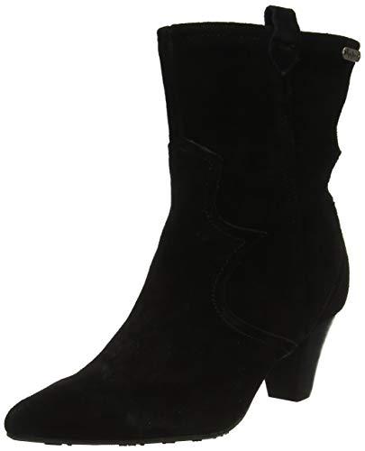 Pepe Jeans London Gospel Tex, Botines para Mujer, Black 999, 37 EU