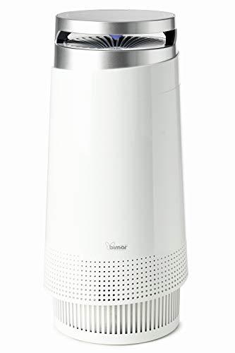 bimar purificatore d'aria smart con wifi e app, elevata purificazione, filtro hepa, ionizzatore, super silenzioso, casa, elimina polvere, allergie, odori, fumo, acari, batteri, peli animali, polline