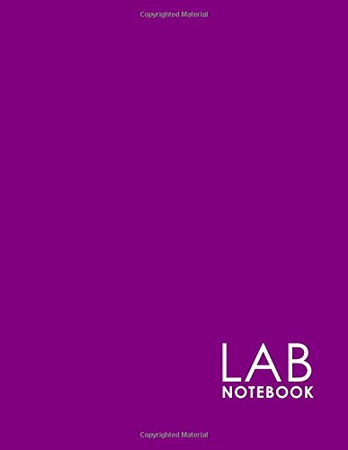 Lab Notebook: Chemistry Laboratory Notebook, Lab Notebook Ruled, Lab Notebook Graph, Student Lab Notebook, Minimalist Purple Cover - Student Lab Notebook