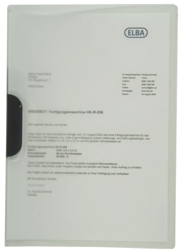 ELBA 100421013 Klemm-Mappe 10er Pack mit clip-fix-System farblos