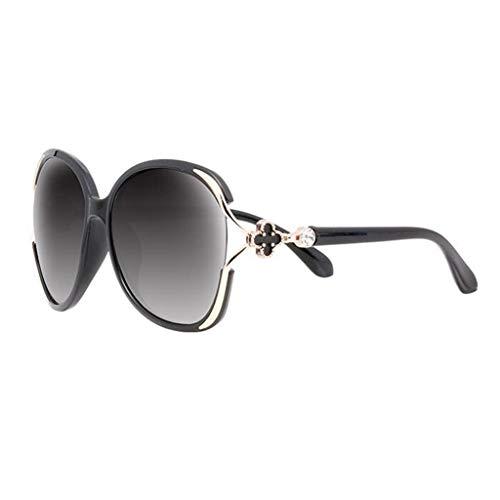 ZCmj Frauen polarisierten Sonnenbrillen Retro Eyewear Oversized Goggles Brillen polarisierten Sport Sonnenbrillen for Männer und Frauen, ideal zum Fahren Angeln (Color : Black)