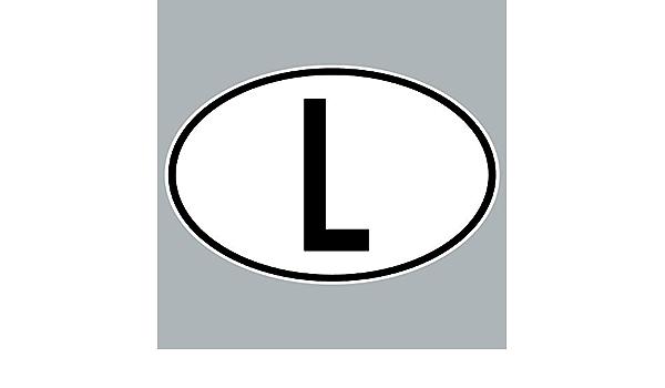Greenit L Aufkleber Auto Sticker Lux Lu Luxemburg Länderkennzeichen Zeichen Symbol 4061963019931 Auto