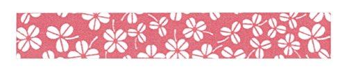 dailylike lkt96Rotolo di tessuto adesivo piccole fogli cotone rosso/corallo 6,5x 6,5x 1,5cm - Tessuto Fogli Cotone
