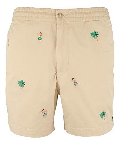 Ralph Lauren Herren Polo-Shorts, Klassische Passform, Flache Vorderseite, elastischer Taillenbund, 15,2 cm, Coastal Beige (Größe XL 15,2 cm)