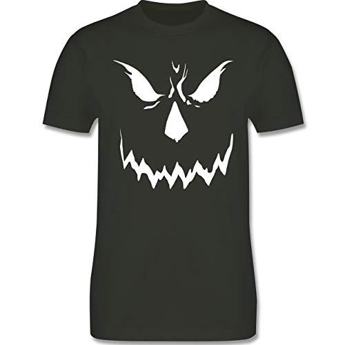 Halloween - Scary Smile Halloween Kostüm - M - Army Grün - L190 - Herren T-Shirt ()