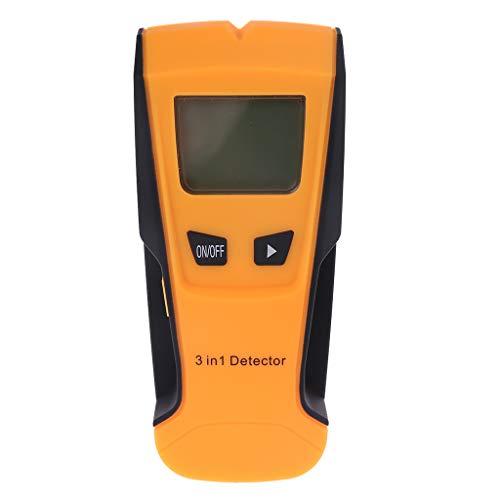 TH210 Wanddickenmessgerät ohne Batterie-Hintergrundbeleuchtung, Metall, AC Draht Scanner, Wandstecker, elektronische automatische Kalibrierung, Gelb