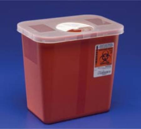 Kendall Multi Purpose Sharps Container W/Rotor Lid 1/2 Gallon Red - Model 8920sa by Covidien /Kendall by Covidien /Kendall