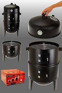 3 in 1 Räucherofen – Grill zum Braten, Grillen und Räuchern – mit Termperaturanzeige – BBQ