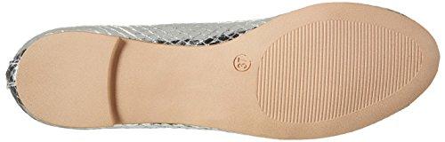 Buffalo Damen C035c-23 E0015d Snake Pu Geschlossene Ballerinas Silber (Silver)