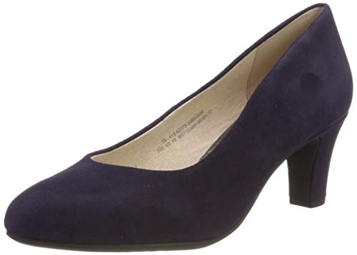 Bugatti Damen 412637703400 Pumps, Blau (Dark Blue 4100), 42 EU (Blue Suede Shoes Damen)