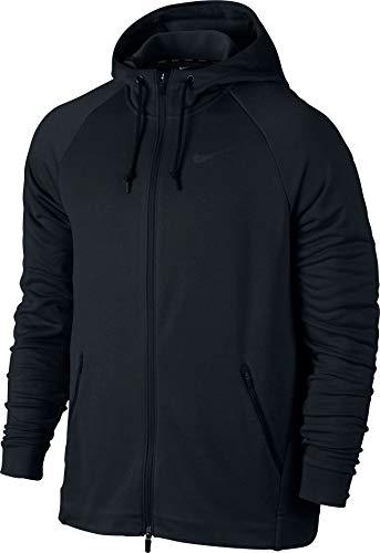 Nike Herren Dry Full-Zip Hyper Hoodie, Black/Metallic Hematite, 2XL -