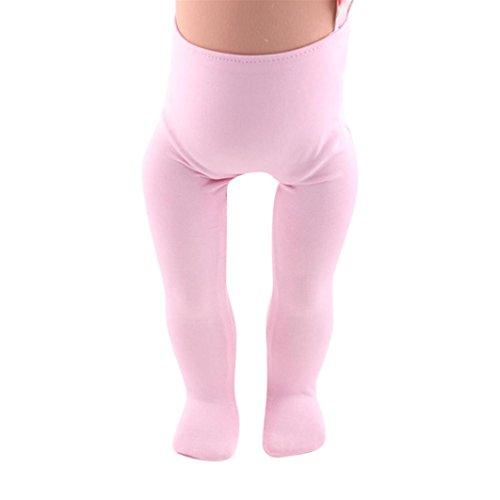 BZLine® Baby Hochwertige Leggings für American Girl Doll von 18 Inch Doll Accessoires (Pink)