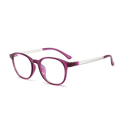 Computer Brillen Anti Blue Rays Gaming Brillen Damen Herren Blue Light Blocking Lenses Optischer Rahmen (Frame Color : Purple)