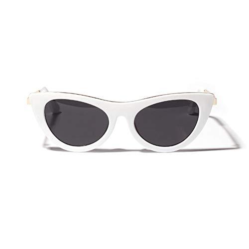 GBST Vintage Luxury Cat Polarized Sunglasses Custom Made Myopia Prescription Lens Myopia Sungalsses,White-Gray