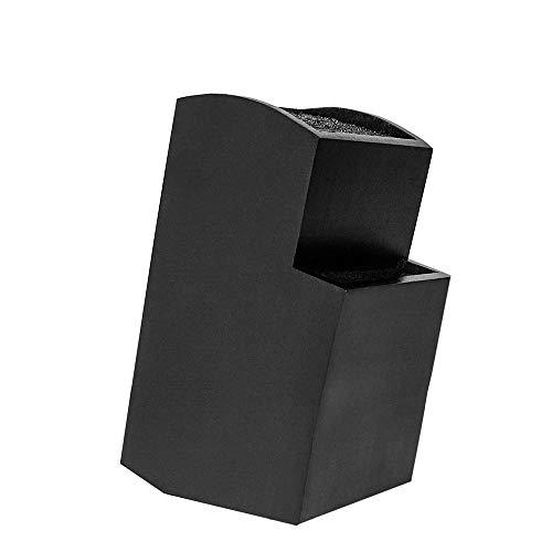 Universal Messerblock mit Universal Messerblock mit Borsteinsatz - Aufbewahrung und Ordnung für Ihre Messer - Toll für Keramik und Edelstahl Utensilien (Magnetic Black)