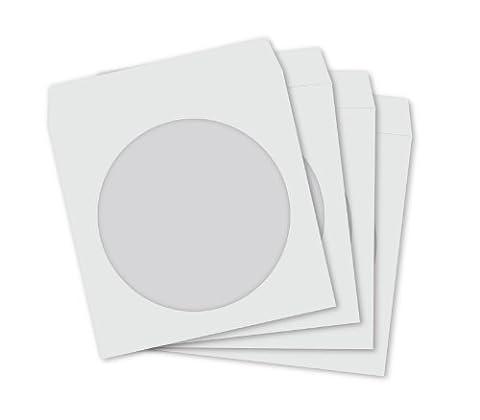 Media Replication® TM Papier CD manches blanc avec fenêtre et