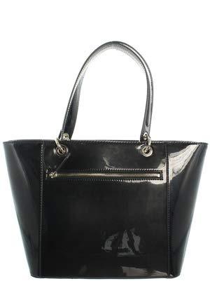 Guess KAMRYN TOTE BLACK HWPH66 91230 Schultertaschen für Frauen - Patent Shopper Tote