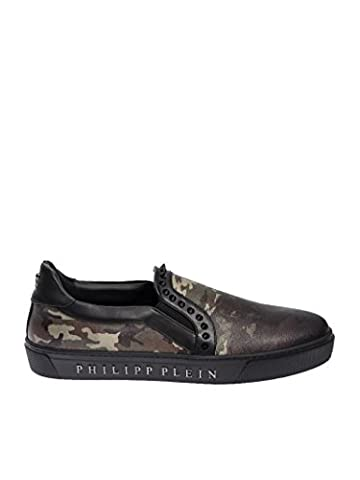 Philipp Plein Homme Msc0570ple004n02k Multicolore Cuir Chaussures De Skate