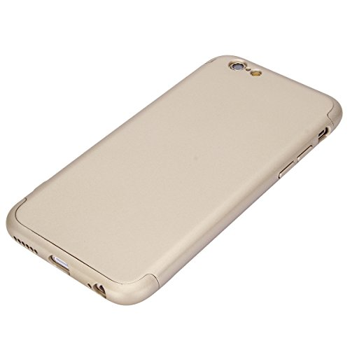 Coque Iphone 7, Housse Pour Iphone 8, Jawseu Ultra Mince [360 Degrés] 3 En 1 Protection Totale Lisse Etui Pc Pour Iphone 7/8 Housse Etui En Caoutchouc Anti Scratch Anti Shock Gold