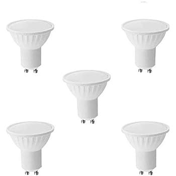 Lámpara Bombilla LED 9W GU10, Luz cálida 3000 K, 600 Lúmenes, Reemplazo Equivalentes a 70W Halogena (5-Unidades) 43311