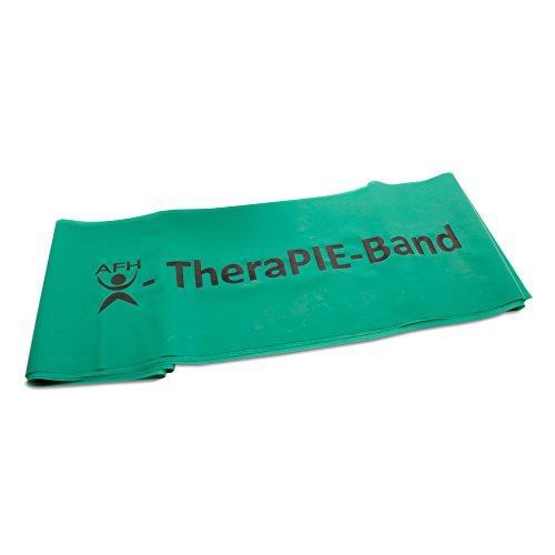 AFH-Webshop Therapie Band | Übungsband | Fitnessband | Trainingsband | Circa 2 m | Widerstand: stark | grün 200 x 15 cm (übungsband Grün)