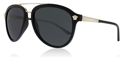 Versace Herren 0VE4341 GB1/87 58 Sonnenbrille, Schwarz (Black/Grey),