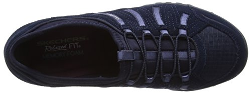 Skechers Active Breathe-Easy Big Bucks, Baskets Basses Femme Bleu (Navy) (Navy)