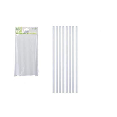 B4E - Lote de 80 Cintas de PLA ecológicas (6 x 20 cm), Color Blanco