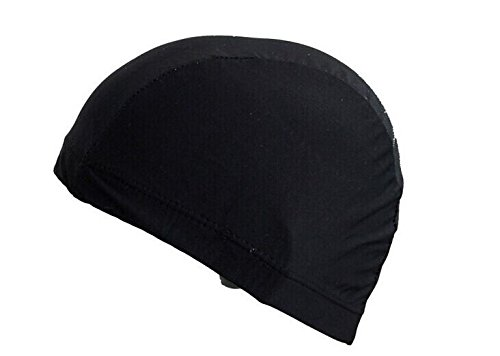 fabric-swim-hat-swimming-cap-adults-older-children-black-blue-red-black-white