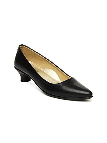 Inc.5 Women Black Patent Leather Heeled Shoes