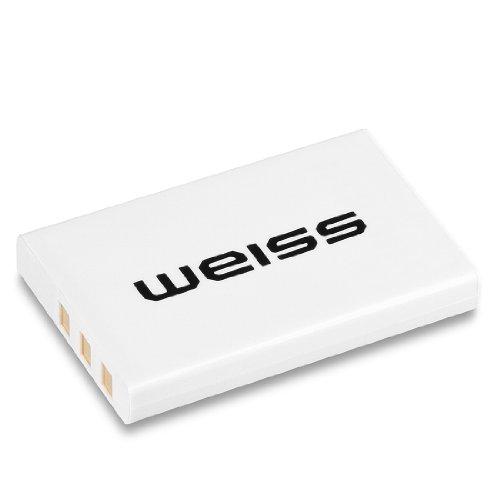 Weiss Fuji NP-60/Casio NP-30 Li-Ion Akku (3,7 V, 1200 mAh) für Digitalkameras von Casio Exilim, AgfaPhoto, Jay-tech, Fuji, Panasonic u. a. Olympus Casio Exilim